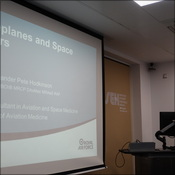 Dr Pete Hodkinson talking about Spaceplanes and Space Doctors